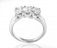 Forever Unique Diamanti IIDGR De Beers group of CompaniesAnello tre diamanti Hydra in oro bianco
