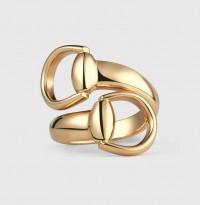 GucciGucci anello Horsebit in oro giallo misura 16