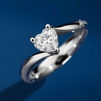 Recarlo Anniversary love solitario diamante taglio cuore colore D