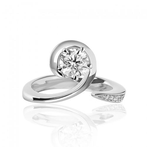 Forever Unique Anello in oro bianco con diamanti