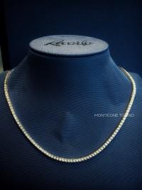 Girocollo Tennis in oro bianco e diamanti n 235