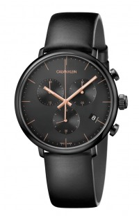 CALVIN KLEIN HIGH NOON K8M274CB chrono pvd nero
