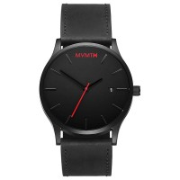 MVMT CLASSIC SERIES - 45 MM  BLACK LEATHER