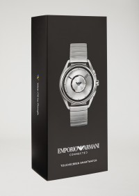 EMPORIO ARMANI  ART5006 Smartwatch touchscreen con cassa e bracciale in acciaio color silver