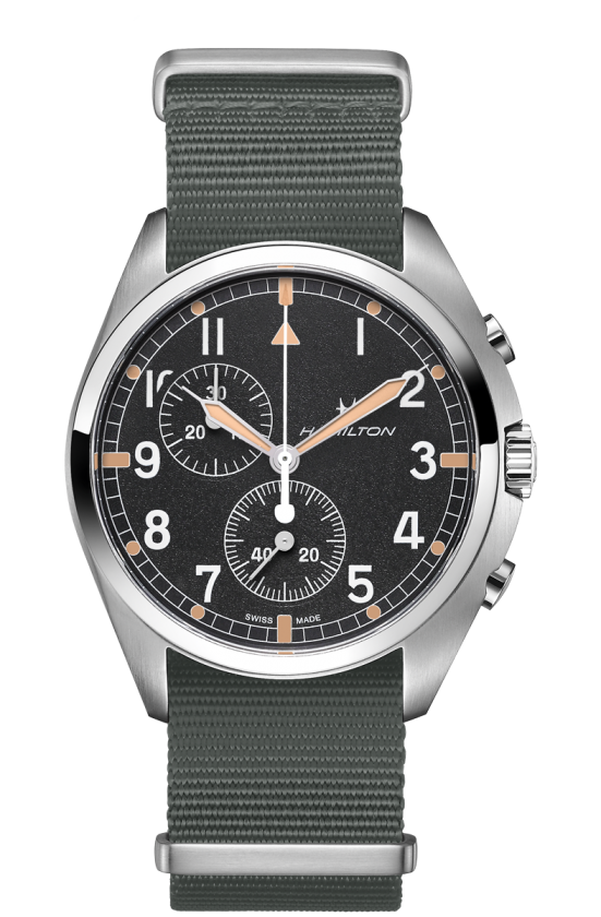 HAMILTON KHAKI AVIATION PILOT PIONEER CHRONO QUARTZ H76522931