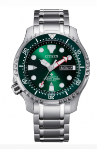 Citizen Diver's Automatic 200 mt Super Titanio Verde NY0100-50X