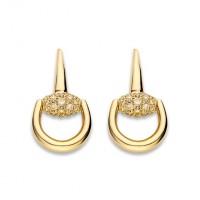 GucciOrecchini Horsebit oro e brillanti
